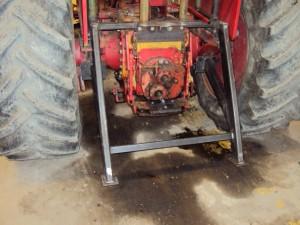 Stegringsskydd till traktor